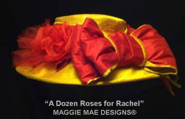 """A Dozen Roses for Rachel"" Hat by MAGGIE MAE DESIGNS®"